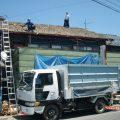 屋根の改修 瓦からガルバニュウム鋼板へ葺き替え